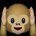 Snapchat Trophäen - Hear-No-Evil-Monkey