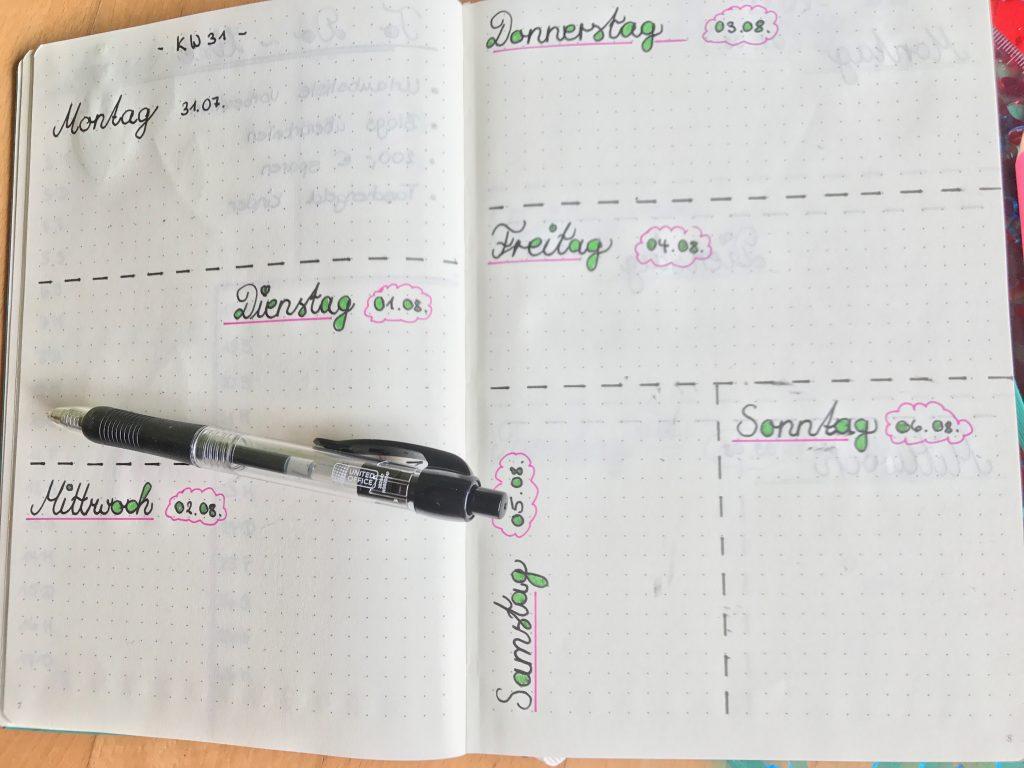 Bullet Journal Daily Log