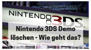 3DS Demo löschen