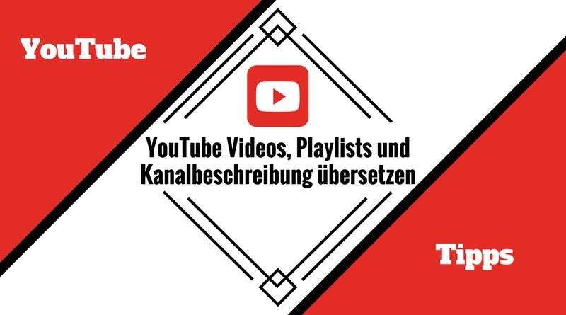 YouTube Kanalbeschreibung übersetzen