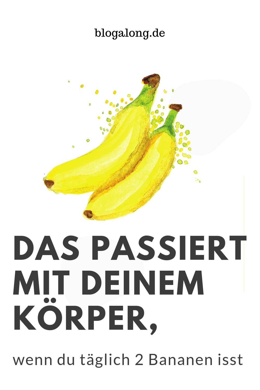 Das passiert mit deinem Körper, wenn du täglich 2 Bananen isst  Du wirst staunen, was 2 Bananen pro Tag mit deinem Körper machen! Probiere es einmal aus, mach die Challenge und iss einen Monat lang jeden Tag 2 Bananen. Du wirst überrascht sein! Wenn du täglich 2 Bananen isst, wird sich dein Gesundheitszustand deutlich verbessern, das bestätigen auch Ernährungswissenschaftler.  #Bananen #Eisenmangel #Serotonin #Sodbrennen #Verstopfung #Blogalong