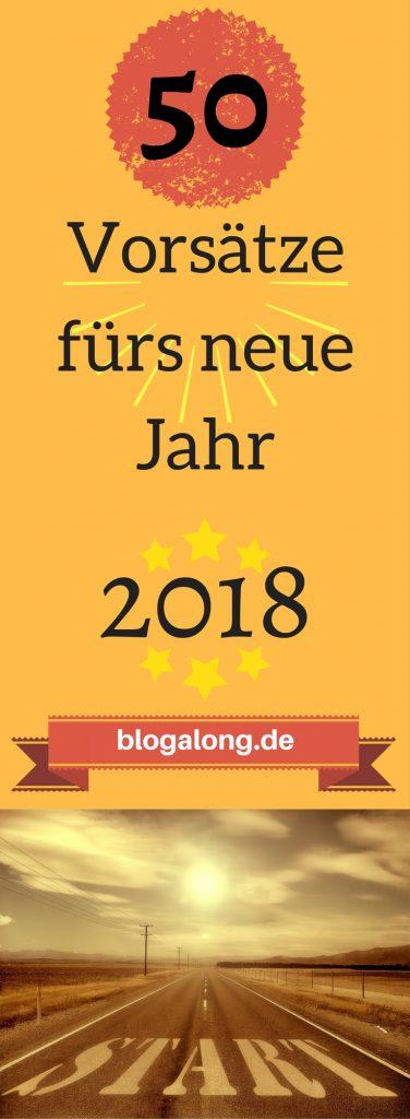 Vorsätze für 2018