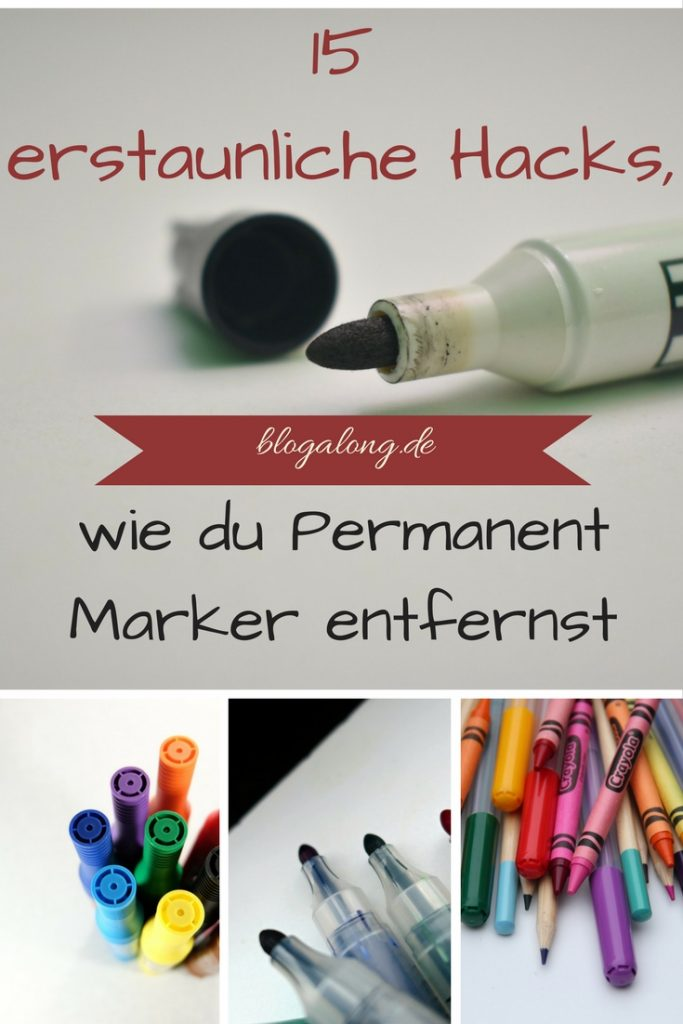 Permanent Marker entfernen