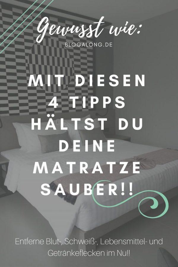 Flecken auf deiner Matratze beseitigen