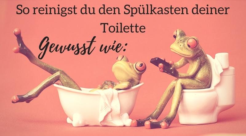 Spülkasten der Toilette reinigen