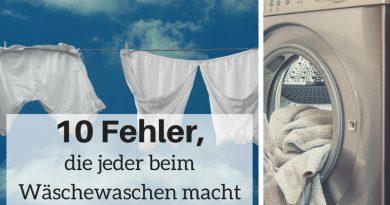 Fehler beim Wäschewaschen