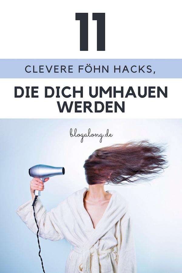 Ich wette mit dir, dass du nicht wusstest, dass du ein unglaublich vielseitiges Werkzeug Zuhause hast - clever getarnt als gewöhnliches Haarstyling-Essential - das sich direkt unter dem Waschbecken versteckt. 11 clevere Föhn Hacks, die dich umhauen werden! #haushalt #tipps #tricks #putzen #blogalong