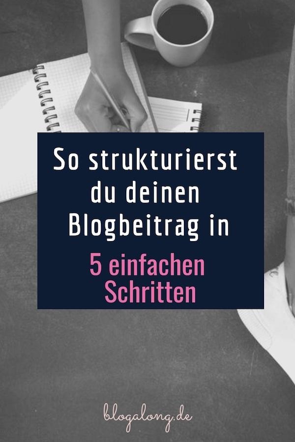 Blogbeitrag strukturieren - in 5 einfachen Schritten