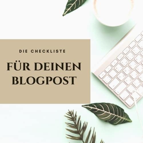 Tipps für deinen Blogpost