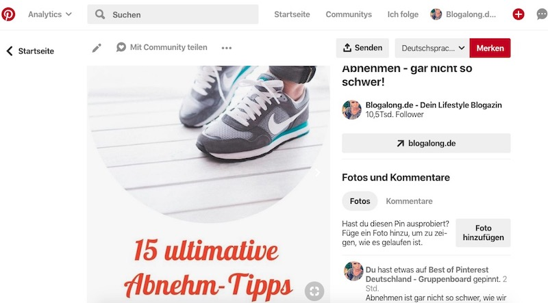 Neues Feature: Pinterest Karussell