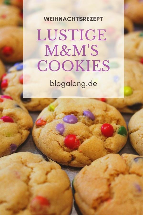 Heute habe ich für dich die besten Plätzchen, die du dir nur vorstellen kannst. Du kannst sie nicht nur zu Weihnachten backen - M&M's Cookies gehen immer! #weihnachten #rezept #plätzchen #cookies #m&m #blogalong