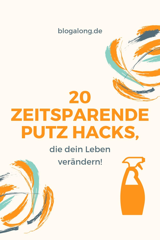20 zeitsparende Putz Hacks, die dein Leben verändern - Der Frühjahrsputz steht bevor. Nimm dir die folgenden 20 zeitsparenden Putz Hacks zu Herzen, um deine wertvolle Zeit gekonnt einzuteilen! #putzhacks #putzen #lifehacks #haushalt #haushaltshacks #tipps #tricks #blogalong