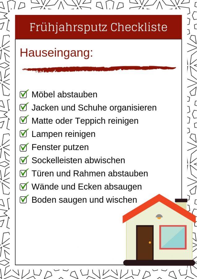 Frühjahrsputz Checkliste