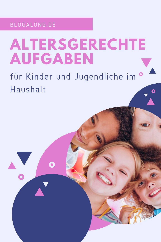 Altersgerechte Aufgaben im Haushalt für Kinder und Jugendliche