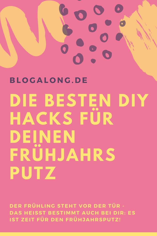 Der Frühling steht vor der Tür - das heißt bestimmt auch bei dir: Es ist Zeit für den Frühjahrsputz! Ein guter und tiefgreifender Frühjahrsputz ist nicht nur eine Tradition, nein, er fördert auch dein Wohlbefinden und Frischegefühl. Dies wird mit Sicherheit nach dem Frühjahrsputz bis in den Sommer hinein reichen. #frühjahrsputz #putzhacks #diy #diyhacks #lifehacks #blogalong