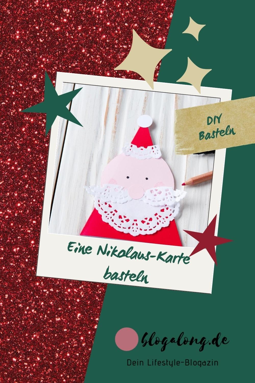 DIY: Eine Nikolaus Weihnachtskarte basteln - so gehts