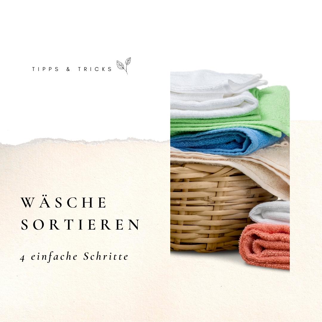 So einfach sortierst du deine Wäsche